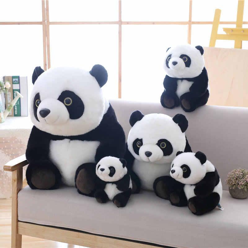1pc 20 cm-40 cm kawaii panda animais de pelúcia boneca brinquedos de pelúcia bonito panda brinquedos de aniversário presentes dos namorados crianças brinquedos