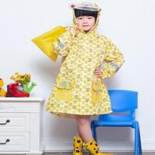 2017 New Brand  Impermeables Yellow Raincoat for Children kids Rain coat Poncho Jackets Sets Chubasqueros Mujer