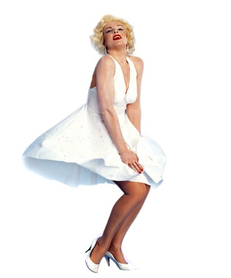 ROLECOS Classic White Sexy Marilyn Monroe Dress Cosplay Party Costume