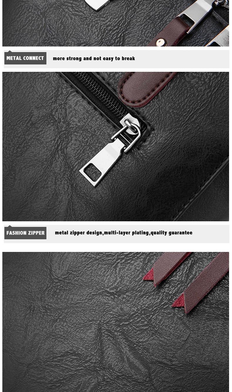 Bolsas de couro das senhoras do vintage