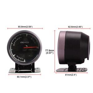 """Image 5 - CNSPEED Medidor de relación de combustible y aire para coche, 7 colores, 2,5 """", 60mm, con soporte LED"""