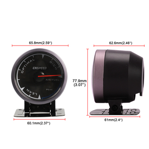 """Image 5 - CNSPEED Shark pin 7 Colors 2.5""""60mm Auto Air Fuel Ratio Gauge Car Air Fuel Ratio Meter Black Face Car Meter LED With Holder"""