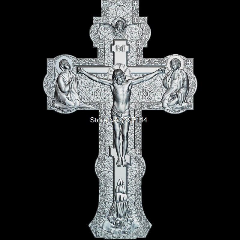 Alta qualidade novo modelo 3d para cnc cross_v2 3d esculpida figura escultura máquina em arquivo stl religião