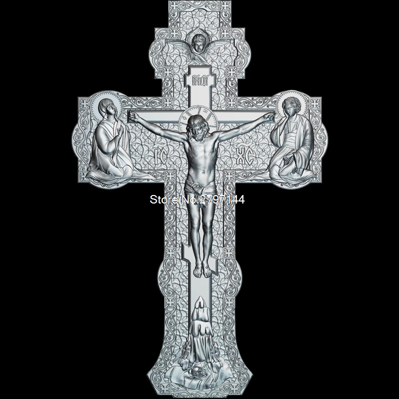цена на High quality New 3D model for cnc Cross_V2 3D carved figure sculpture machine in STL file Religion
