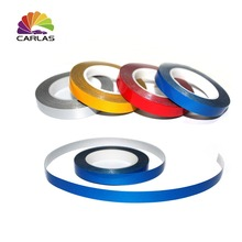 free shipping 1CM*9M Carlas Removable Vinyl reflective Tape