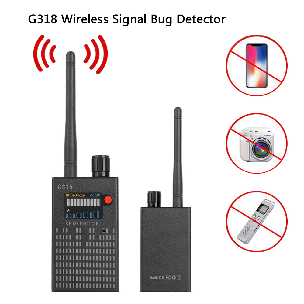 G318 Wireless Signal Bug Detector Anti-Spy Bug Detector GPS Location Finder Tracker Frequency Scan Sweeper Protect Security (EU)G318 Wireless Signal Bug Detector Anti-Spy Bug Detector GPS Location Finder Tracker Frequency Scan Sweeper Protect Security (EU)