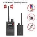 G318 Bug Detector de Sinal Sem Fio DA UE Anti Candid Camera GPS Localizador Rastreador Scanner De Freqüência Sweeper Proteger Segu