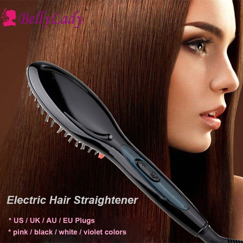 BellyLady Electric Hair Straightener Brush Hair Styling Hair Straightener Comb Auto Straightening Irons Simply Fast Hair