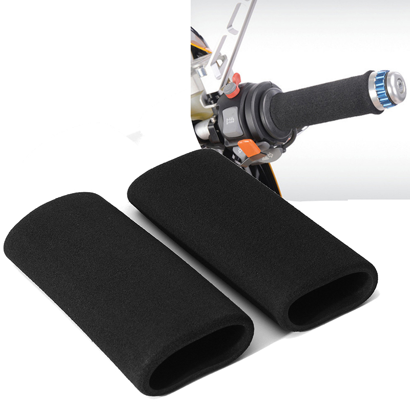 Enthusiastic 1pair Motorbike Motorcycle Slip-on Foam Anti Vibration Comfort Handlebar Grip Cover Cheap Sales Motorcycle Accessories & Parts Grips