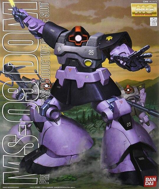 Bandai Gundam 1/100 MG 021 MS 09 Domโทรศัพท์มือถือชุดตัวเลขการกระทำประกอบชุดของเล่น