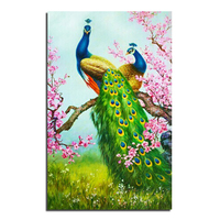 Peacock Plum Blossom 50x80 Wholesale DIY Diamond Painting Home Decoration Rhinestone Wall Stickers Embroidery Needlework