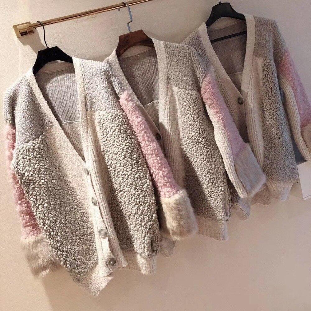 2018 ผู้หญิงขนสัตว์ผ้าขนสัตว์ชนิดหนึ่ง gradient mink fur เสื้อกันหนาว outerwear-ใน คาร์ดิแกน จาก เสื้อผ้าสตรี บน AliExpress - 11.11_สิบเอ็ด สิบเอ็ดวันคนโสด 1