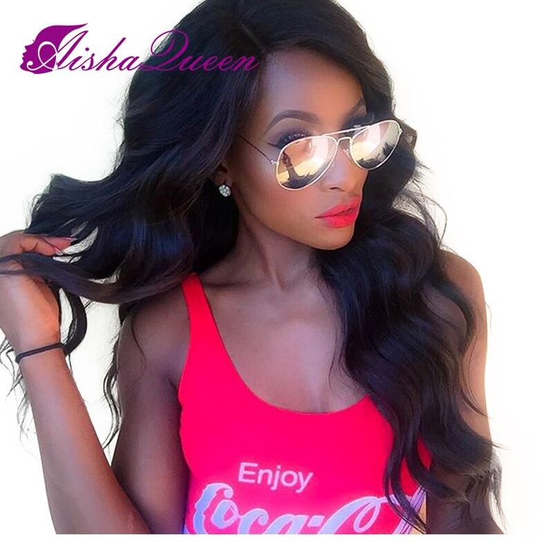 Малайзии Virgin Full Lace человеческих волос парики для черный Для женщин 130% человеческих волос с для волос бесклеевой Lace Wig объемная волна