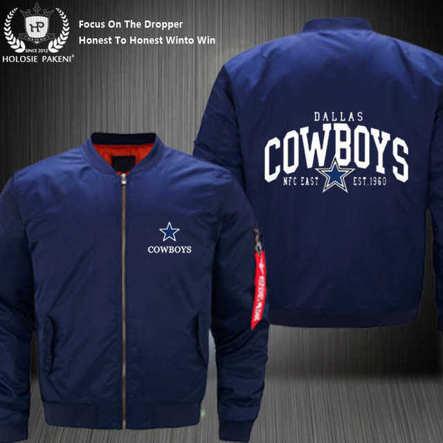 7472a8199ad Dropshipping USA Size MA-1 Jacket Football Team Dallas Cowboys Men Flight  Jacket Custom Design