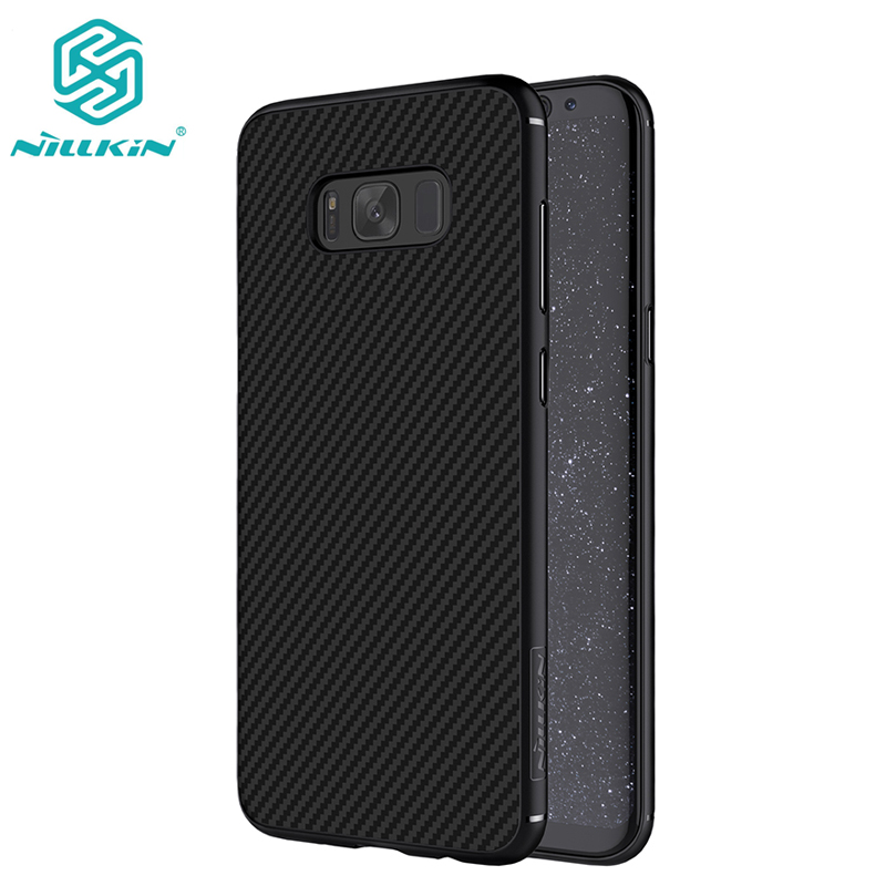 imágenes para NILLKIN caja Del Teléfono de la Fibra Sintética para Samsung Galaxy S8 S8 S8 Más Caso de La Contraportada para la Galaxia Más envío de la gota