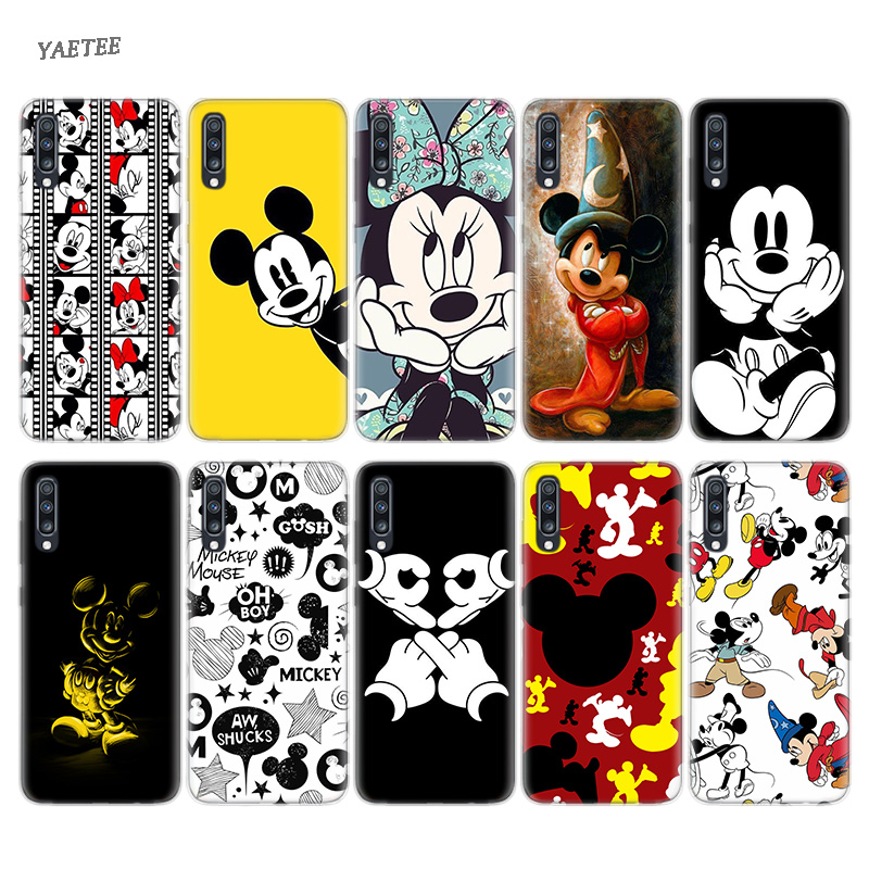 <font><b>Cartoon</b></font> Mickey Mouse Silicone Phone <font><b>Case</b></font> For Samsung Galaxy S10 Plus S10E M30 M10 <font><b>A50</b></font> A30 A70 A40 M20 M10 A10 A20 A60 A80 A20E image