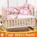 5 UNIDS algodón cuna cama juego de cama para niños niñas bebé parachoques cuna juego de cuna parachoques kids cuna parachoques 100x58 cm CP01