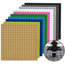 16*16 Dots LegoING Base Plate for Small Bricks Plastic Baseplate City Building Blocks Sets Parts Educational Toys for Children