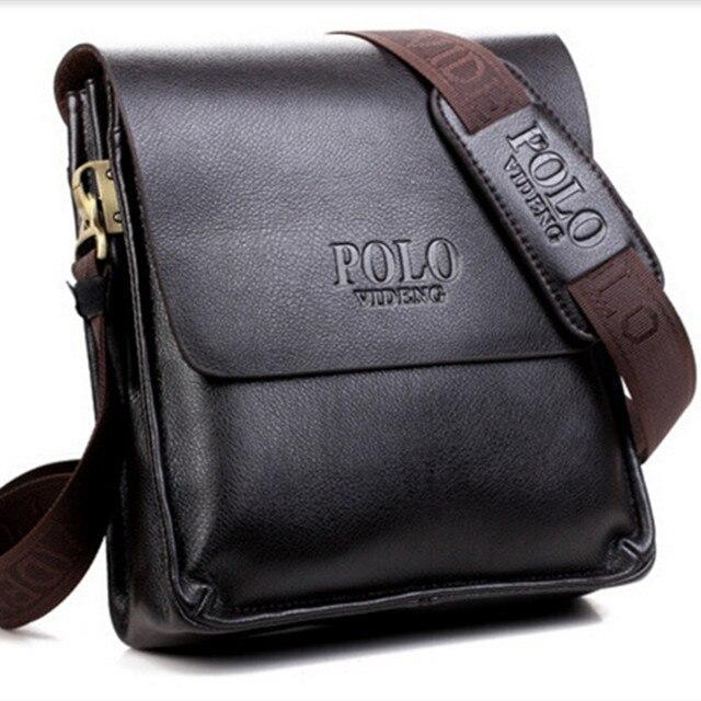 309781e9c87c Men Shoulder Bags Famous Brand Casual Business PU Leather Mens Messenger  Bag Vintage Men s Crossbody Bag