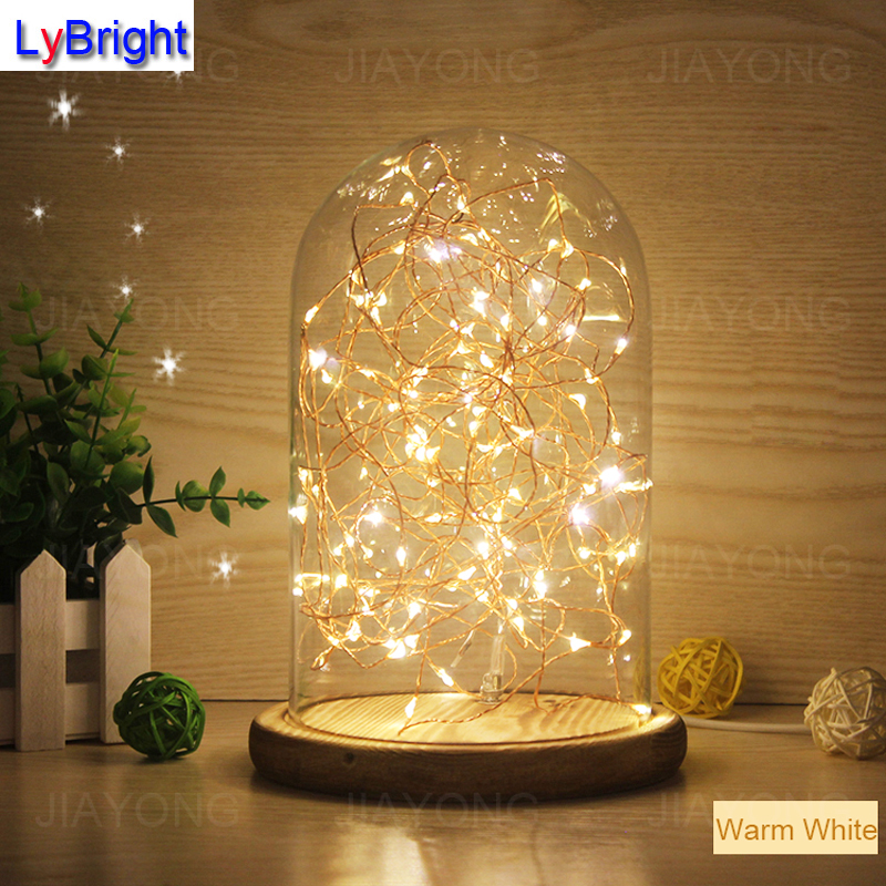 5W Glass Table Lamp AC 220V Creative Personality DIY LED