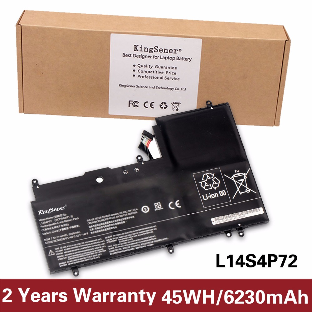 KingSener L14S4P72 Laptop battery For LENOVO Yoga 3 14 Yoga 700 14ISK Serie Yoga3 14-IFI Yoga3 14-ISE L14M4P72 45WH/6230mAh original for lenovo for yoga 3 14 yoga3 14 3 14 hdd hard drive cable connector btuu1 hdd ffc cable nbx0001fw10 test