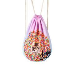 Drawstring Backpack Travel Softback Women Mochila Multicolor Drawstring Backpack Bag 2019 New Men Bagpacks Storage Package Bags unisex backpacks men women drawstring backpack bags cool shoes burger printed casual softback shopping travel drawstring bag