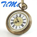 Mens Pocket Watch Made of Copper Roman Number Collect