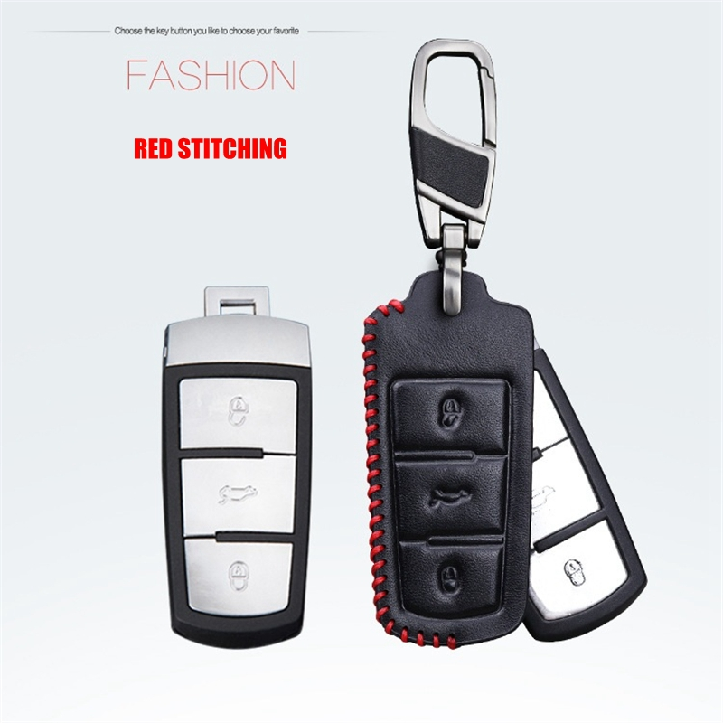 Prawdziwej Skóry Car Styling Klucz Pokrywy Skrzynka Dla Volkswagen - Akcesoria do wnętrza samochodu - Zdjęcie 3
