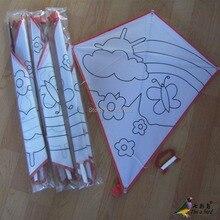 Спорт на открытом воздухе Алмазный DIY воздушный змей/детский воздушный змей/образовательный воздушный змей с ручкой и линией хороший Летающий