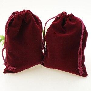 Image 5 - 100pcs/lot 5x7, 7x9, 8x10, 10x12cm Drawstring Velvet Bags & Pouches Jewelry Bags Gift Packaging Bag Customize Custom Print Logo