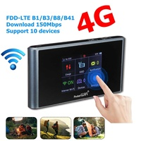 Portable Lte 4g Wifi Router Mobile Hotspot Wireless Router Support SIM Card 150Mbps Modem for Home Office Cellphone