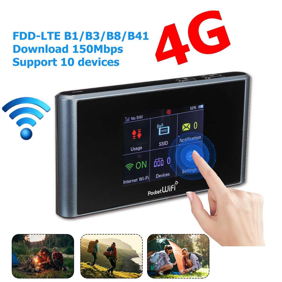 Routeur sans fil Portable Lte 4g Wifi routeur sans fil Hotspot prise en charge de la carte SIM Modem 150 Mbps pour le bureau à domicile