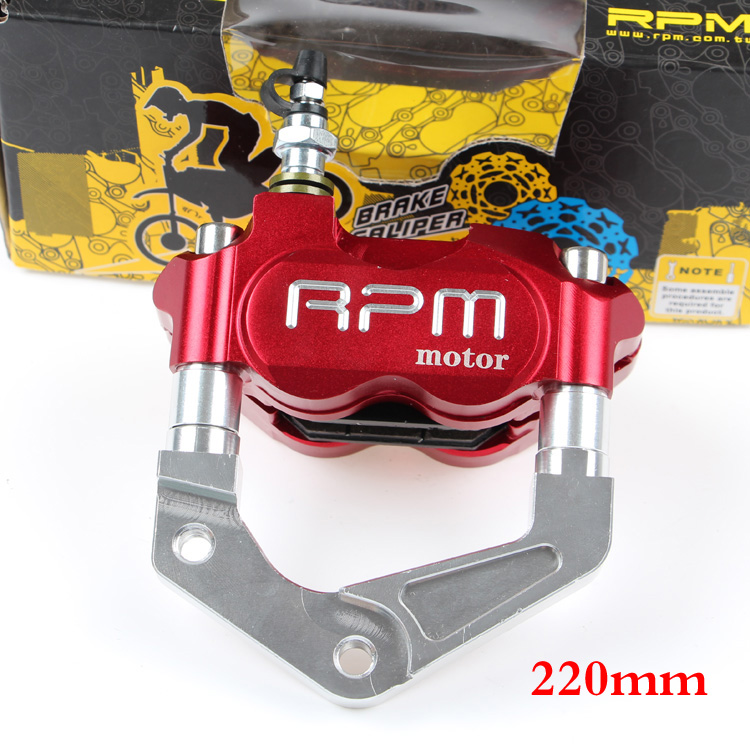 RPM motor Universal For Yamaha Aerox Nitro BWS 100 Zuma RSZ JOG 50 rr Motorcycle Brake Pump+200/220mm Disc Brake Calipers rpm motorcycle brake calipers brake pump adapter bracket for yamaha aerox nitro jog 50 rr bws 100 zuma rsz