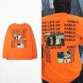 Канье Уэст Kanye Yeezy Я Жизнь Пабло майка мужчины Лето Марка Одежды Футболка Я чувствую, Павел Kanye Orange тройник