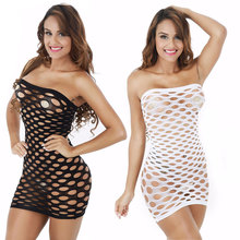 Elasticity Cotton Lenceria Sexy Lingerie Hot Mesh Baby Doll Dress Erotic Lingerie For Women Sex Costumes Fishnet Underwear