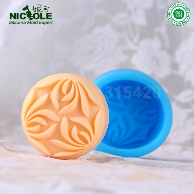 Nicole R0332 Custom Silicone Soap Moldsdiy Oval Soap Moldsflower
