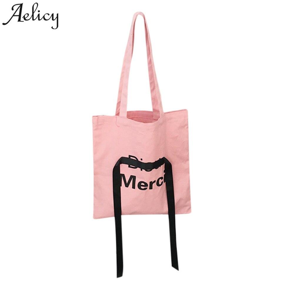 Girl Shoulder Bag Casual Lady Handbag Canvas Pouch Shopping Bags For Bolsa Feminina Dropshipping 2018
