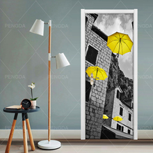 Sticker Wallpapers Decal Renovation Door Self-Adhesive Home-Decoration Waterproof DIY