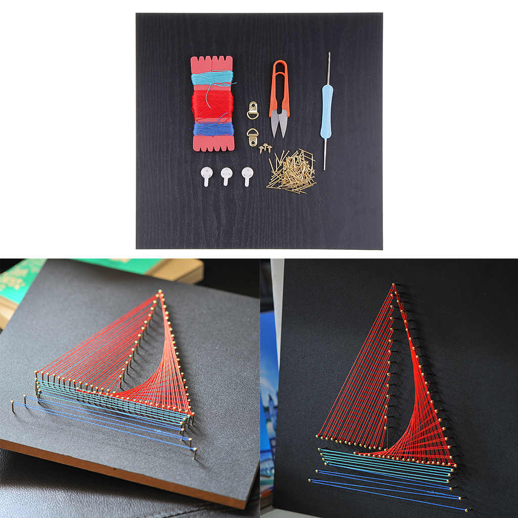 Diy Craft String Art Kits Handmade Ship Sailboat Painting For Kids Beginner Home Wall Decor Aliexpress
