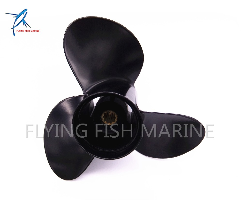 Outboard Engine Aluminum Propeller 10 1/4x11 K for Suzuki Johnson Evinrude OMC 25HP 30HP Boat Motor 10 1/4 x 11 K oversee 32900 96371 for 25hp 30hp suzuki outboard cdi unit 1996 1999 25 30hp 32900 963a0 32900 96350 32900 96370