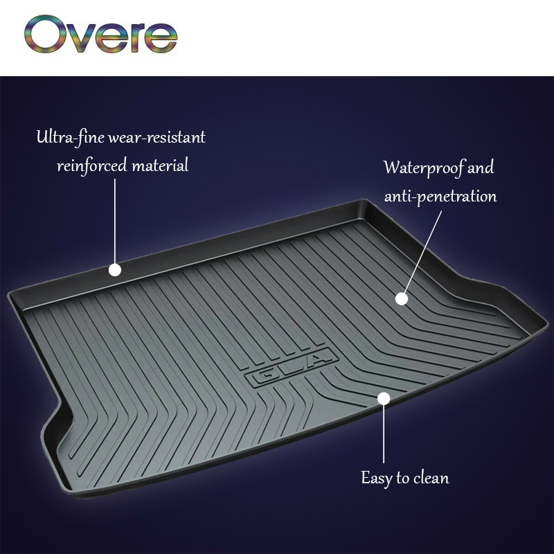 Overe 1Set Car Cargo rear trunk mat For Mercedes Benz Class C W205 E W212 W213 GLA X156 GLC X253 GLK X204 Anti-slip Accessories bigbigroad car hud obdii 2 windscreen projector head up display for mercedes benz gle glc gla cls class w166 x253 c253 x156 w218