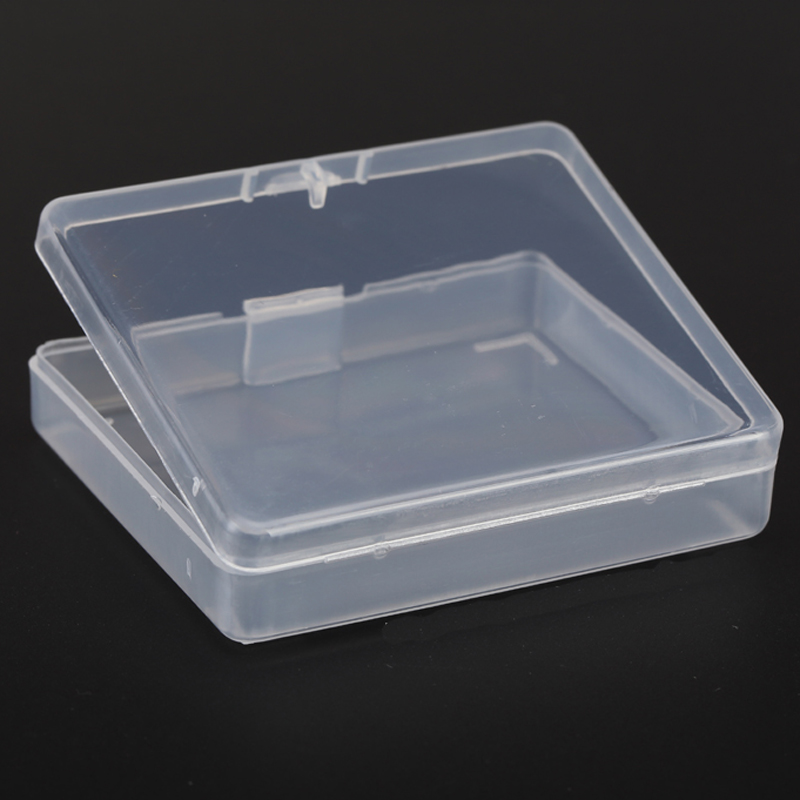 Thick Transpa Small Square Plastic Bo With Lid Packaging Storage Box For Jewelry Organizer Parts Boite Rangement In Bins From