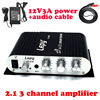2 1 Channels Amplifier 2x20w Stereo Sound 40w Super Bass Output HI FI CD MP3 MP4