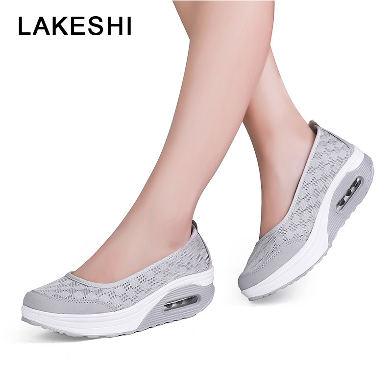 2018 Summer Women Sandals Breathable Mesh Women Summer Shoes Fashion Platform Shake shoes women creepers shoes 2015 summer breathable white gauze hollow platform shoes women fashion sandals x525 50