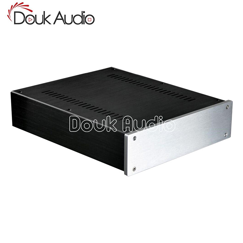 Douk Audio Aluminum Chassis Power Amplifier Enclosure DAC Shell Headphone Box a910 isoundyou aluminum host shell digital audio power amplifier gold