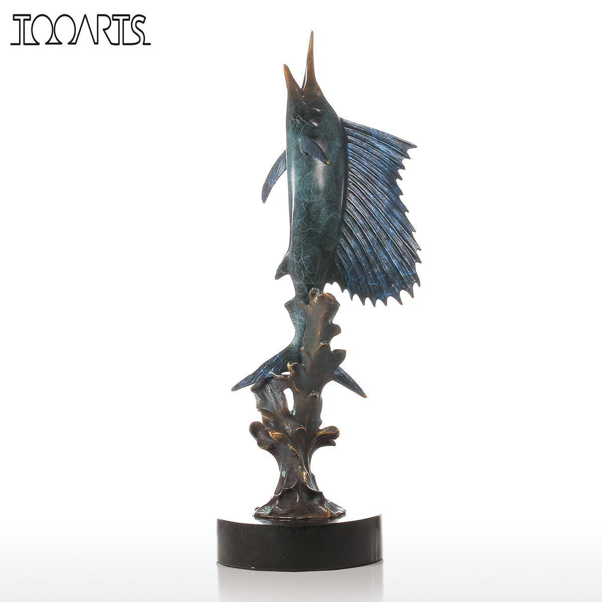 online get cheap modern art statues aliexpresscom  alibaba group - tooarts salifish out of water handmade bronze sculpture modern art homedecor statue figurine gift artwork
