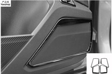 Автомобиль-Стайлинг автомобиль из нержавеющей стали 4 шт./лот звук двери украшения Рамка для Volkswagen T-ROC T РПЦ 2018 аксессуары