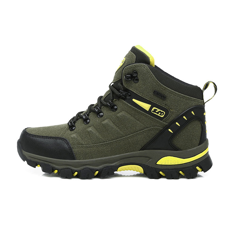 Image 2 - men mountain hiking boots waterproof woman trekking shoes leather climbing treking sneakers zapatillas outdoor hombre senderismo-in Hiking Shoes from Sports & Entertainment