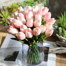 Bouquet Flower Tulips Real-Touch Wedding-Decoration Artificiales Home PU for B1016 20pc30pc