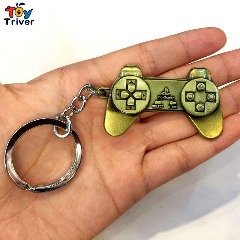 Metal playstation jogo controlador chaveiro saco pingente acessórios brinquedos presente para o homem namorado jogo amante triver